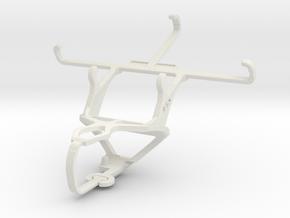 Controller mount for PS3 & Karbonn Sparkle V in White Natural Versatile Plastic