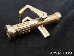 Fire Fighter in Polished Brass