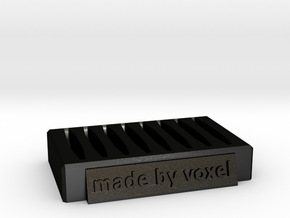 Voxel Material Sample Stand in Matte Black Steel