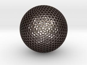 Goldberg Sphere  in Polished Bronzed Silver Steel