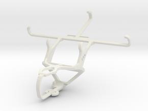 Controller mount for PS3 & ZTE Grand X Plus Z826 in White Natural Versatile Plastic
