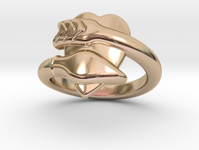 Cupido Ring 25 - Italian Size 25 in 14k Rose Gold Plated Brass