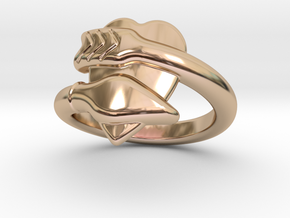 Cupido Ring 27 - Italian Size 27 in 14k Rose Gold Plated Brass
