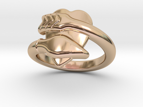 Cupido Ring 32 - Italian Size 32 in 14k Rose Gold Plated Brass