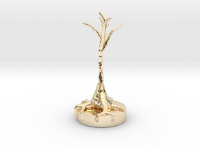 Neural Pyramid Cell in 14K Yellow Gold
