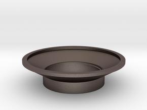 MHS compatible Kanan Tsuba in Polished Bronzed Silver Steel