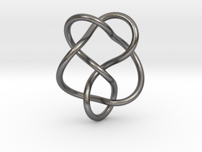 0359 Hyperbolic Knot K5.19 in Polished Nickel Steel