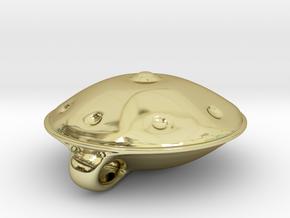 Handpan Instrument Pendant v4 in 18k Gold