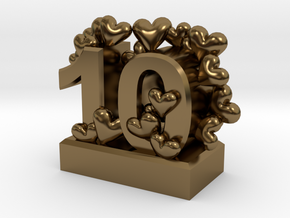 10th Anniversary Aluminum Gift in Polished Bronze