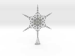 Sparkle Snow Star - Fractal Tree Top - MP1 - M1 in Metallic Plastic