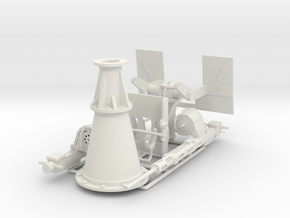 Twin 20 mm Oerlikon. 1/18 scale. in White Natural Versatile Plastic