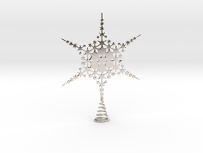 Sparkle Snow Star - Fractal Tree Top - HP3 - S in Platinum