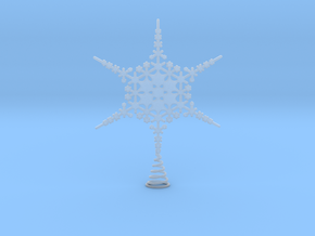 Sparkle Snow Star - Fractal Tree Top - MP4 - M in Smooth Fine Detail Plastic