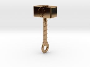 Thor's Hammer (Mjöllnir) in Polished Brass
