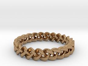 Napkin Holder Braided in Polished Brass