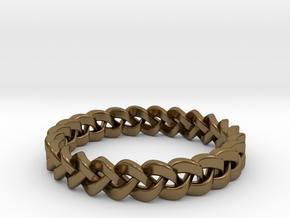 Napkin Holder Braided in Polished Bronze