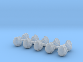 28mm Shock Trooper Heads 5mm Wide X10 in Smooth Fine Detail Plastic