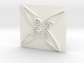 Throwing Star in White Processed Versatile Plastic