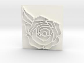 Rose in White Processed Versatile Plastic