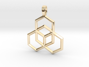 STEP CUBE in 14K Yellow Gold