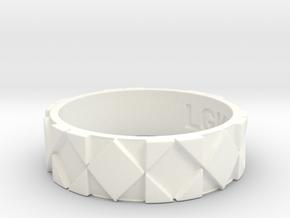 Futuristic Rhombus Ring Size 12 in White Processed Versatile Plastic