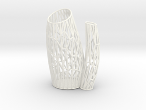 Porifera Vase / Holder Wired (Small) in White Processed Versatile Plastic