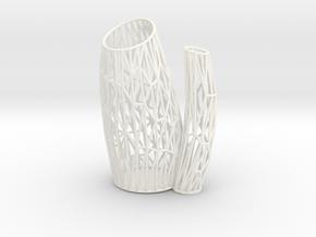 Porifera Vase / Holder Wired (Small) in White Processed Versatile Plastic