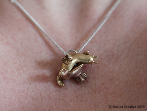 Yana the Nudibranch Pendant in Natural Bronze