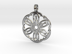 MOON BLOSSOM in Fine Detail Polished Silver