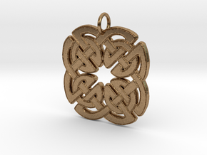 Four Knot Pendant in Natural Brass