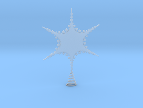 Sparkle Snow Star 2 - Tree Top Fractal - M in Smooth Fine Detail Plastic