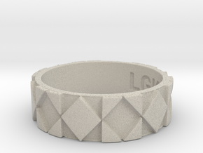 Futuristic Rhombus Ring Size 11 in Natural Sandstone