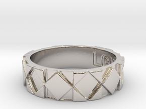 Futuristic Rhombus Ring Size 9 in Platinum