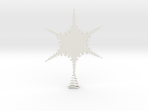 Sparkle Snow Star 2 - Fractal Tree - S in White Natural Versatile Plastic