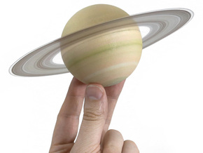 Saturn - separate planet for scale solar system in Full Color Sandstone