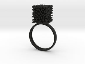 Constantina Architectural Coral Ring in Black Natural Versatile Plastic