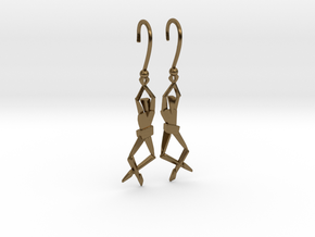 HUMANIS ALPHA ::: EARRINGS in Polished Bronze