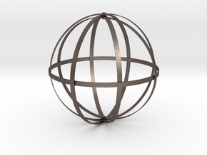 Dyson Sphere in Polished Bronzed Silver Steel