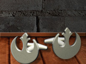 Rebel-Alliance Cufflink in Stainless Steel