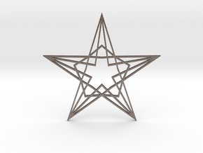 Arabesque: Star in Polished Bronzed Silver Steel