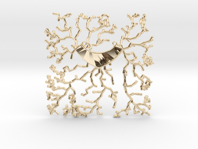 Growing Necklace v.1 in 14k Gold Plated Brass