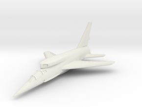 North American F-107A (In Flight) 6mm 1/285 in White Natural Versatile Plastic