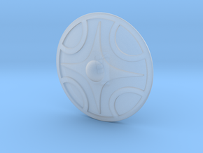 Miniature Shield 1 in Smooth Fine Detail Plastic