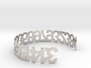 PI Bracelet in Rhodium Plated Brass