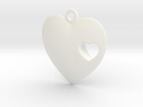 Heart in White Processed Versatile Plastic