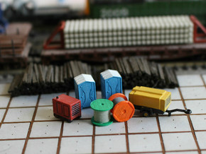N Scale Construction Site Set in Smooth Fine Detail Plastic