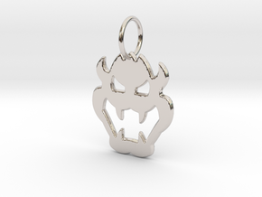 Bowser Pendant in Rhodium Plated Brass