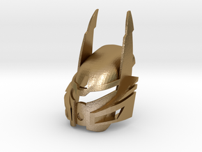 Bionicle Heroes style Kanohi Ignika in Polished Gold Steel