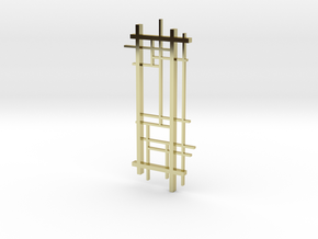 De Stijl: Composition No. 1 in 18k Gold Plated Brass