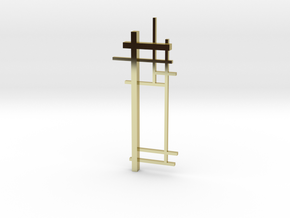 De Stijl: Composition No. 2 in 18k Gold Plated Brass